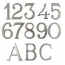 Numeri civici e Lettere in ottone Verniciato ANTRACITE h. cm 5