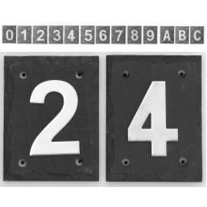 Numeri civici in Ardesia e Acciaio Serie HN