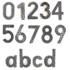 Numeri civici in ferro battuto altezza cm 12.