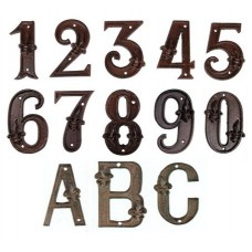 Numeri civici in ghisa altezza cm 11
