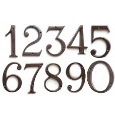 Numeri civici in ottone BRUNITO h. cm 12