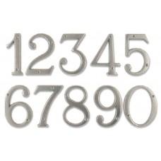 Numeri civici in ottone CROMATO h. cm 12
