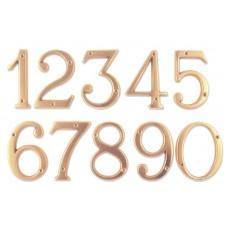 Numeri civici in ottone LUCIDO h. cm 12
