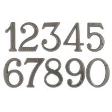Numeri civici in ottone verniciato ANTRACITE h. cm 12