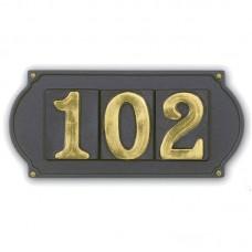 Numeri civici riquadrati, lettere, placche Ottone Verniciato