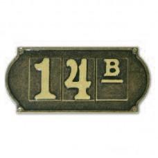 Numeri civici riquadrati, lettere, placche Ottone Brunito