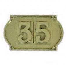 Numeri civici riquadrati, lettere, placche Ottone Lucido
