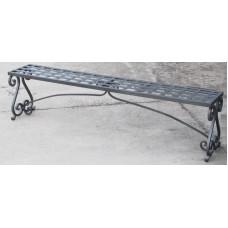 Panca ferro forgiato, terrazzo giardino e cucina. Modello Ricci