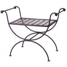 Sgabello ferro forgiato, giardino, terrazzo, interno. F253