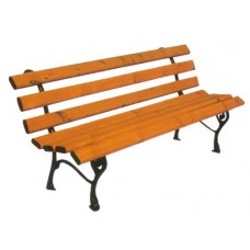 Panchina Arredo Urbano Nicra in ghisa legno esotico 4006