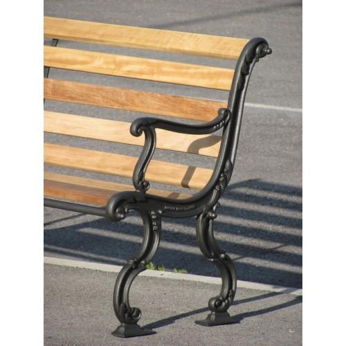 Panchina giardino piemonte legno esotico 4013 for Arredo giardino torino