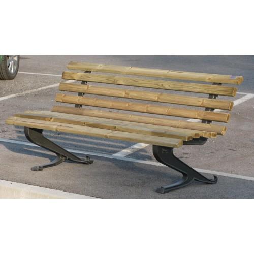 Panchina randunica ghisa arredo urbano legno pino 4021 pino for Arredo urbano in legno