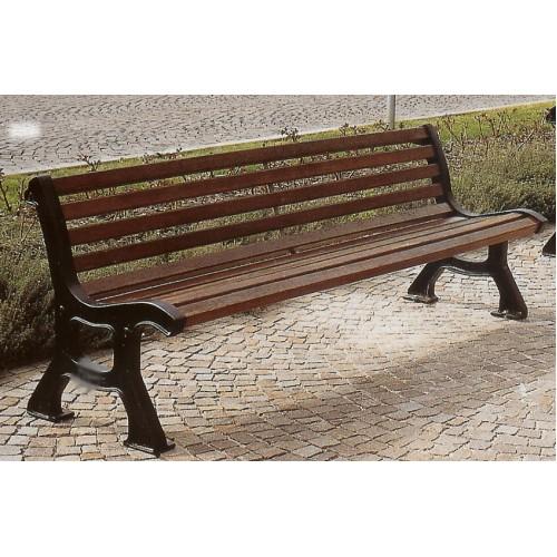 Panchina roma ghisa legno esotico giardini parchi piazze for Corrimano in legno roma