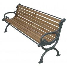 Panchina Tedesca Legno Esotico per Parco e Giardino 4017