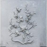 Lastra Ornata in Ghisa per Rivestimenti Camino cm 59,5xh.60. PIAORN11