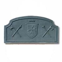 Piana in ghisa decorata per focolare spade cm 120xh.60. PIAORN22