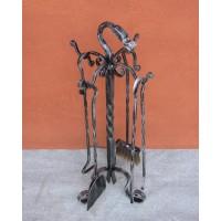 Kit attrezzi focolare ferro. CFI-3163