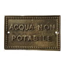 Targhetta Acqua NON Potabile 13939/N