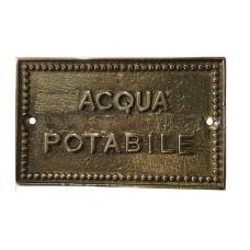 Targhetta Acqua Potabile 13939