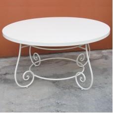 Tavolo artistico in ferro forgiato per interno ed esterno. OSIRIS