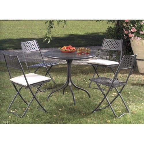Tavolo esterno in ferro fisso per giardino terrazzo bis80 - Tavolo da terrazzo ...