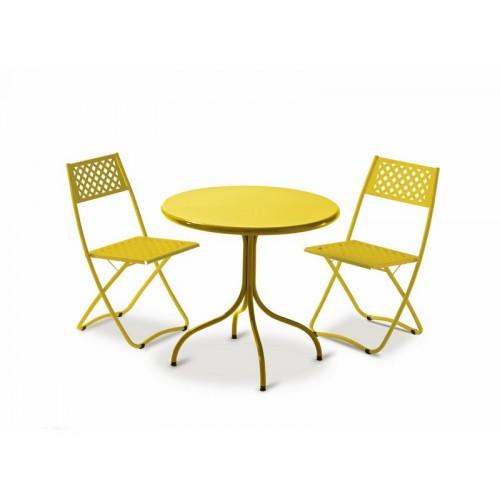 Tavolo in ferro fisso da esterno per giardino bar ristorante bis80 l - Tavolo ferro giardino ...