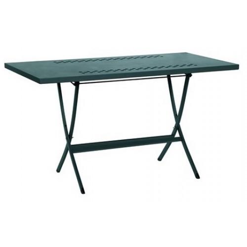 Tavolo in ferro pieghevole da esterno per veranda portico terrazzo her 120x75 - Tavolo pieghevole da esterno ...