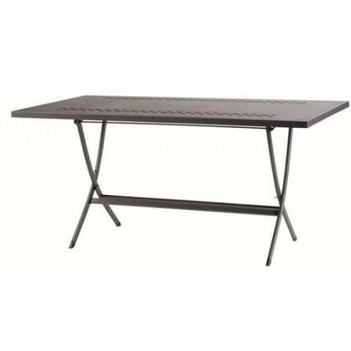 Tavolo in ferro pieghevole da esterno per giardino her 160x80 - Tavolo pieghevole da esterno ...