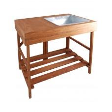 Tavolo o banco da lavoro in legno naturale. GT35