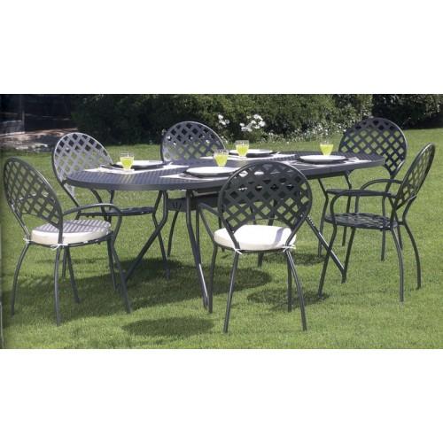 Tavolo in ferro allungabile per giardino, portico o terrazzo. RFXL