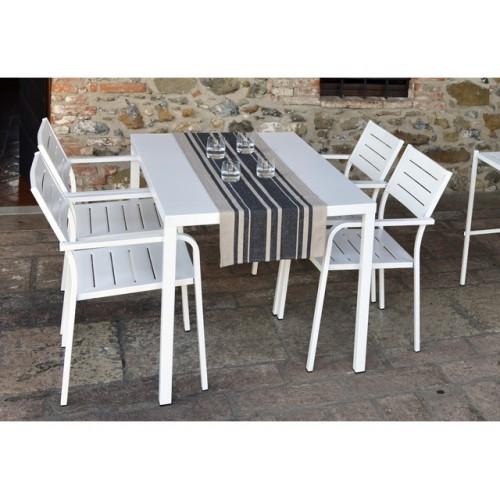 Tavolo da esterno in ferro per giardino veranda terrazzo dr 120x80 h 75 - Tavolo ferro giardino ...