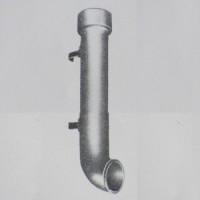 Tubo Terminale Grondaia In Ghisa Curvo cm 50  diametro mm 100. TPL100X5C