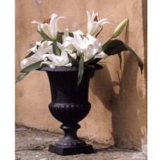 Vaso esterno in ghisa da giardino. Modello Coppe