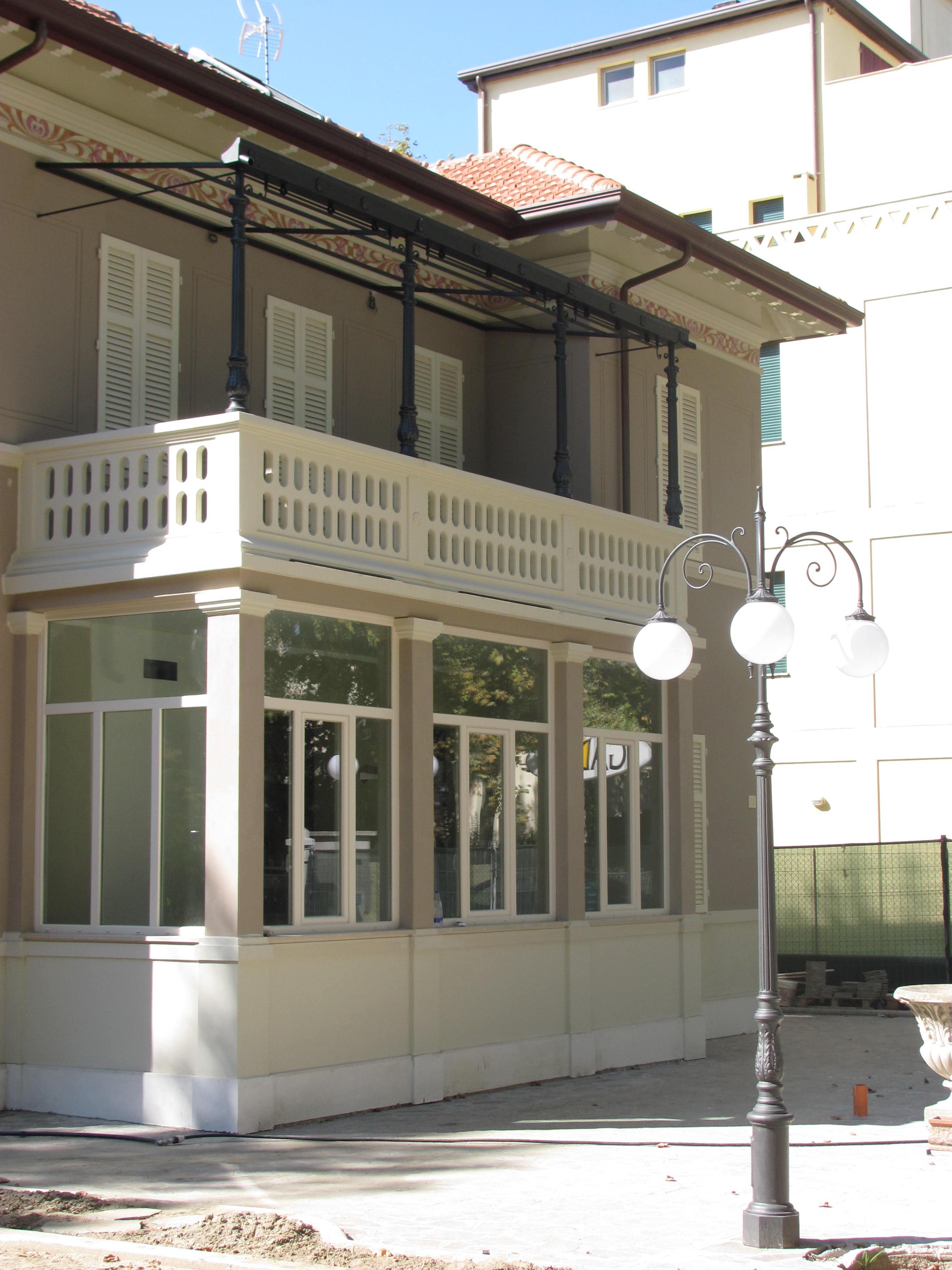 Illuminazione Per Casa Al Mare restauro esterno casa del '900 cervia. illuminazione e