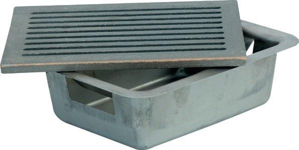 Cassetto portacenere lamiera stampata per camino 30 x 20 x 7 cm spessore 1 cm