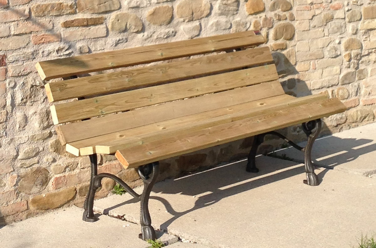 Panchine Da Giardino Legno E Ghisa : Panchina ghisa parco giardino nicra legno pino pino