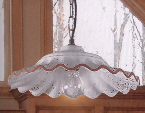 Lampadario Rustico Ceramica : Lampadario rustico in ceramica dipinta a mano cfi s