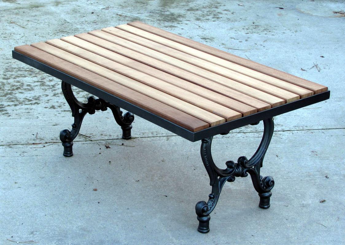 Piani Tavoli Per Esterno.Base Tavolo Da Giardino Terrazzo E Cucina In Ghisa Con Piano In Legno