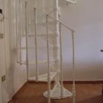 Modello scalino Liberty Corrimano a spirale, scala a chiocciola.