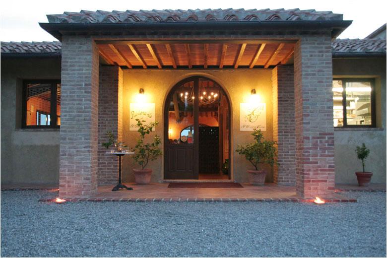 Villa curina illuminazione e ringhiere