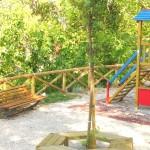Parco delle ginestre, vista dell'area giochi.