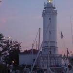 Faro ottocentesco porto di Rimini.