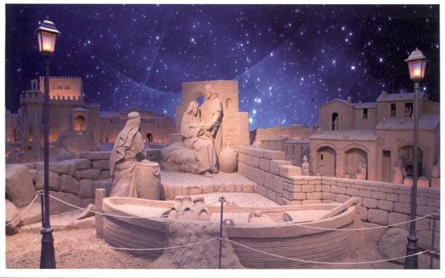Fornitura di illuminazione per esterno presepe di sabbia torre