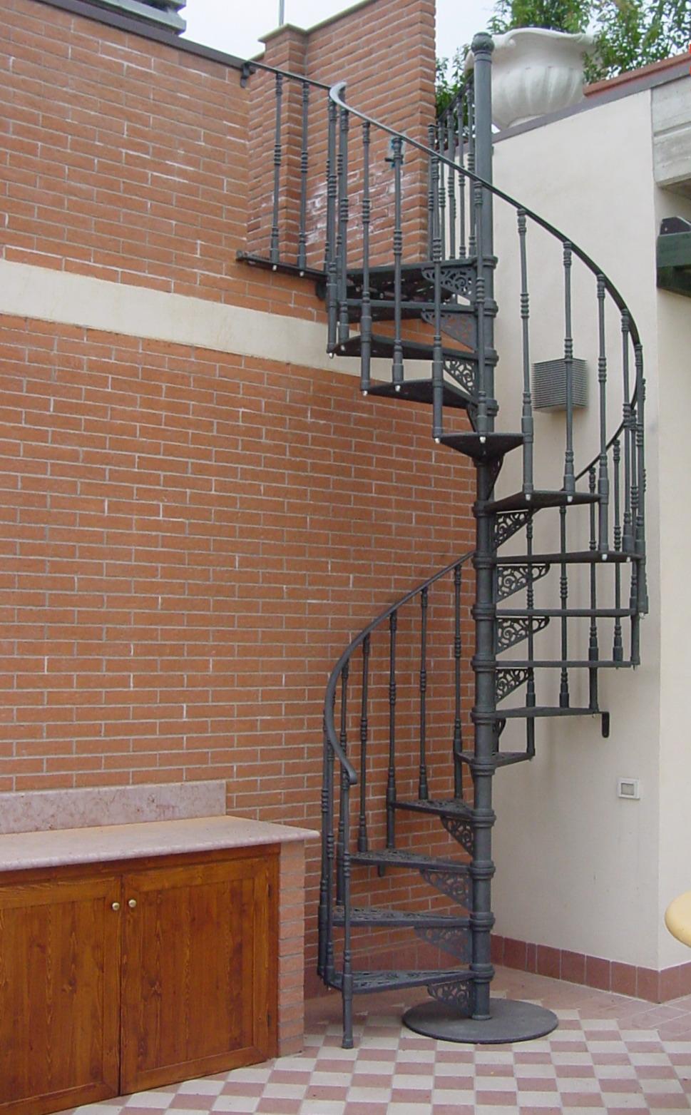 Scala a chiocciola in ghisa liberty rimini fonderia for La scala a chiocciola
