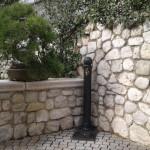 fontanella giardino rubinetto griglia