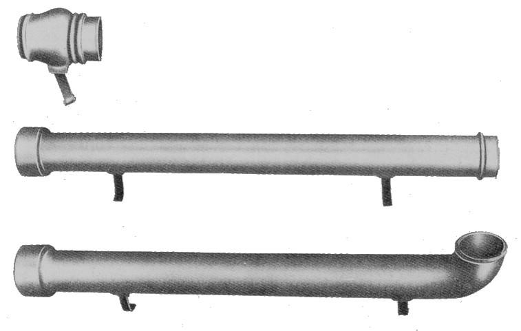 Tubo pluviale terminale ghisa per grondaia fonderia for Tubi per acqua in plastica e rame