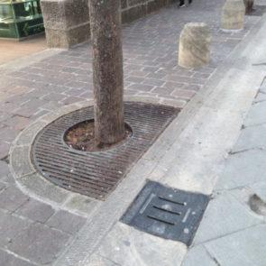 Caditoia per cunetta griglia albero
