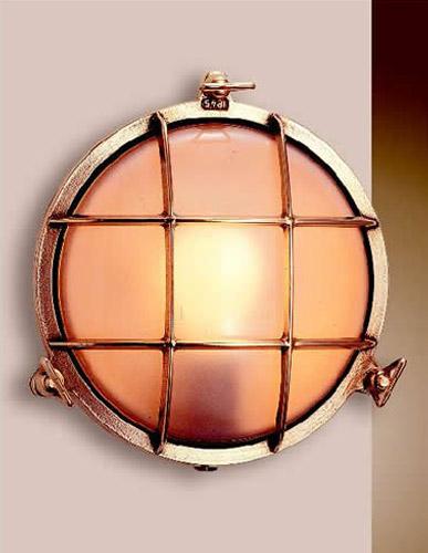 Illuminazione applique tartaruga ottone tonda