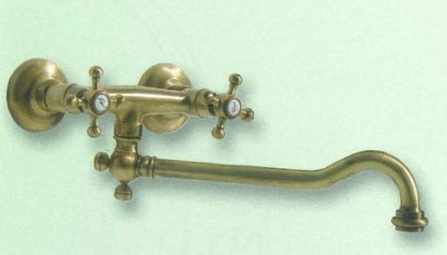 Rubinetto ottone gruppo lavello canna inferiore 13339 for Rubinetto cucina a muro