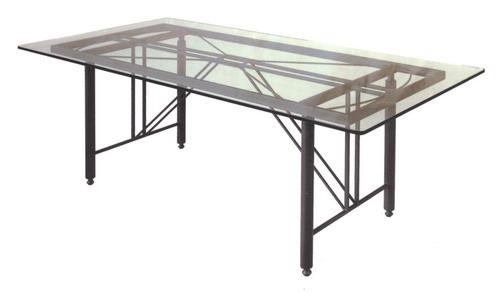 Base tavolo da giardino terrazzo e cucina in ferro battuto modello clessidra fonderia - Tavolo giardino ferro battuto ...